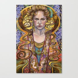 Oath in the Wisterias Canvas Print