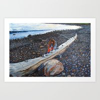 Delaney on the Beach Art Print