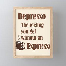 Espresso Framed Mini Art Print