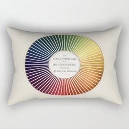 Chevreul Cercle Chromatique, 1861 Remake, vintage wash Rectangular Pillow