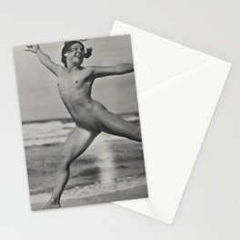 Victorian Vintage Posing Lady Erotic French Nude On Beach Stationery Cards