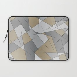 ABSTRACT LINES #1 (Grays & Beiges) Laptop Sleeve