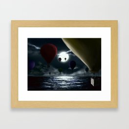 Crossing the ocean. Framed Art Print