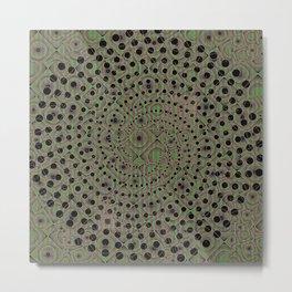Earthen Spiral Metal Print