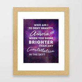 Who Am I To Deny Gravity, Aurora Framed Art Print
