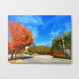 Fall Road Metal Print