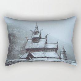 Borgund Stavkirke III Rectangular Pillow