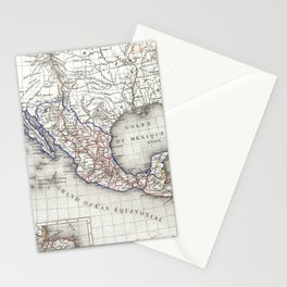 Vintage Map of Mexico (1852) Stationery Cards