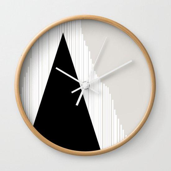 Abstract Mountain Wall Clock