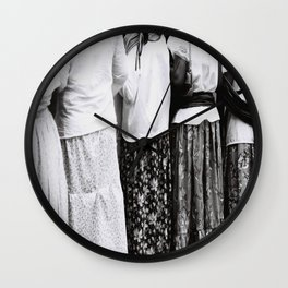 Mexican skirts Wall Clock