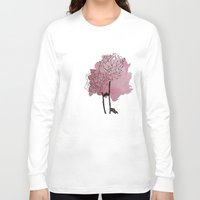 peonies Long Sleeve T-shirts featuring peonies by morgan kendall