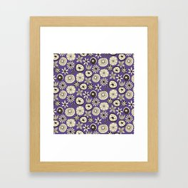 summer flowers purple Framed Art Print