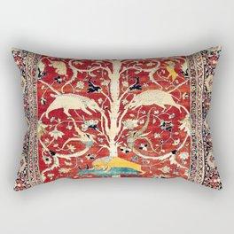 Silk Heriz Azerbaijan Northwest Persian Rug Print Rectangular Pillow