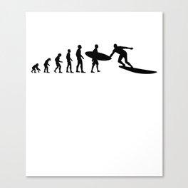 Surfer Evolution Design Canvas Print