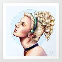 cinderella Art Prints featuring cinderella by Anja-Catharina