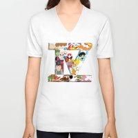 fandom V-neck T-shirts featuring Define Fandom? by Wayko World