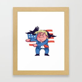 Dancing Trump Framed Art Print