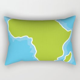 map of Africa Continent and blue Ocean. Vector illustration Rectangular Pillow