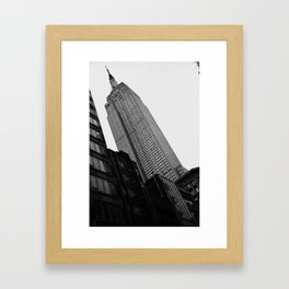 Empire State Building in Black and White Framed Art Print