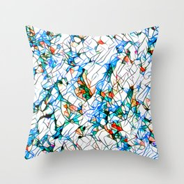 Glass stain mosaic 1 abstract - by Brian Vegas Throw Pillow