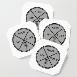 Disc Golf Shirt Discgolf Frisbee Kiss My Putt Coaster