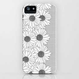 Daisy Grid on Side iPhone Case