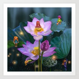 Lotus of India Art Print