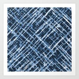 Criss Cross Watercolor Stripes Art Print