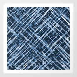 Criss Cross Watercolor Stripes Art Print