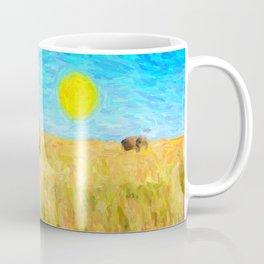 abstract elephants herd Coffee Mug