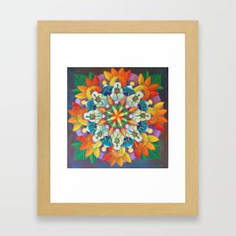 "Mandala ~ ""Changing Turtle Seasons"" Framed Art Print"