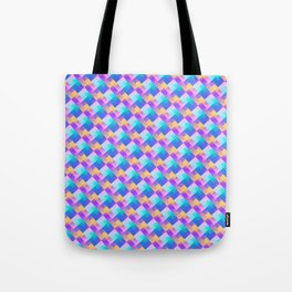 Geometric summer and water patterns Tote Bag