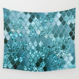 Mermaid Glitter Scales #4 #shiny #decor #art #society6 Wandbehang
