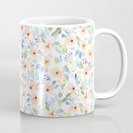 Peachy Watercolor Pattern Coffee Mug