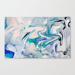 Marble watercolor pastel Canvas Print
