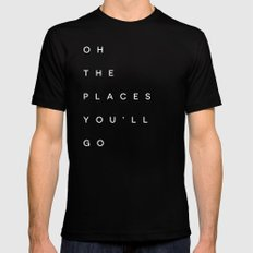 The Places You'll Go I MEDIUM Mens Fitted Tee Black