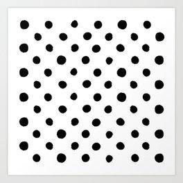 Modern Handpainted Abstract Polka Dot Pattern Art Print