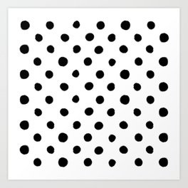 Modern Handpainted Abstract Polka Dot Pattern Kunstdrucke