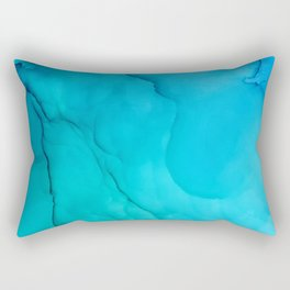 Cosmic ocean Fluid Ink Abstract Art Rectangular Pillow
