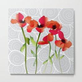 Poppy variation 11 Metal Print