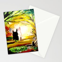 In the woods.. Stationery Cards