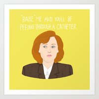 scully Art Prints featuring Dana Scully by Anna Valle