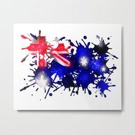Australian Sparkle Metal Print