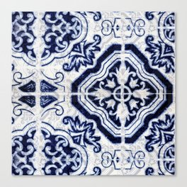 Azulejo VI - Portuguese hand painted tiles Canvas Print
