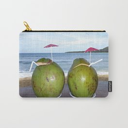 Fresh Coconut Juice by the Beach Carry-All Pouch
