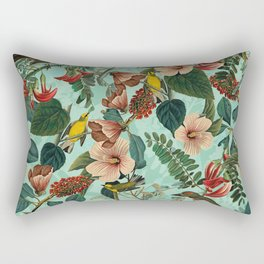 FLORAL AND BIRDS XIII Rectangular Pillow
