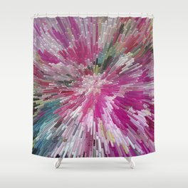 Abstract flower pattern 3 Shower Curtain