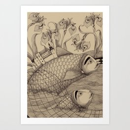 The Golden Fish (1) Art Print
