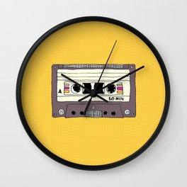 Polka dot cassette tape Wall Clock