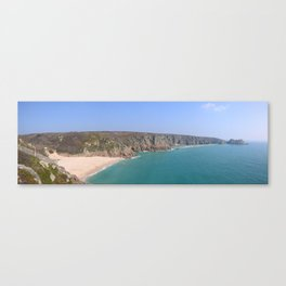 Porthcurno Panorama Canvas Print